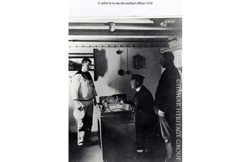 A sailor in to see the Medical Officer 1910